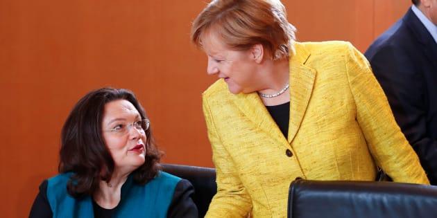 Avec Andrea Nahles à la tête du SPD, les femmes s'imposent à la tête des principaux partis allemands