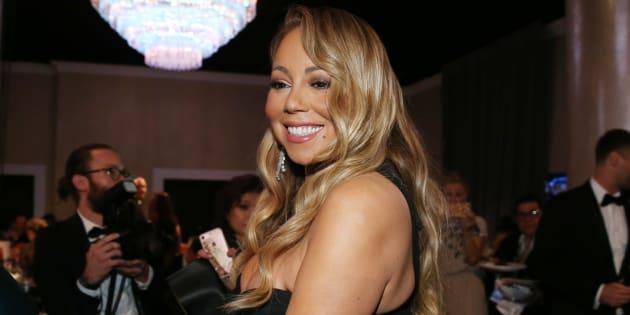 Mariah Carey à son arrivée aux Golden Globes, le 7 janvier 2018.