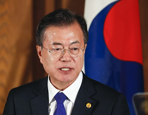 Photo shows South Korea reaction to cancelled talks