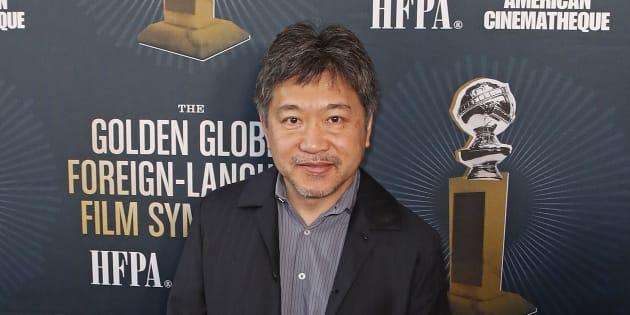 ゴールデングローブ賞授賞式に出席した是枝裕和監督。2019年1月5日、アメリカ合衆国・ハリウッド。