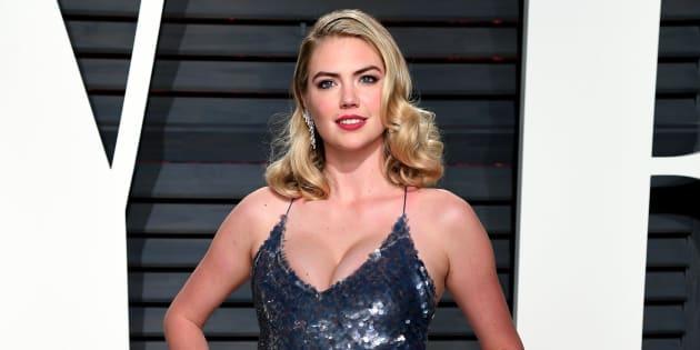 Kate Upton, en la fiesta 'Vanity Fair' tras los Oscar el 26 de febrero de 2017.