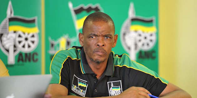 Free State Premier Ace Magashule attends a press conference to mark the  100th anniversary of the African National Congress (ANC) on January 4, 2012 in Bloemfontein, South Africa.