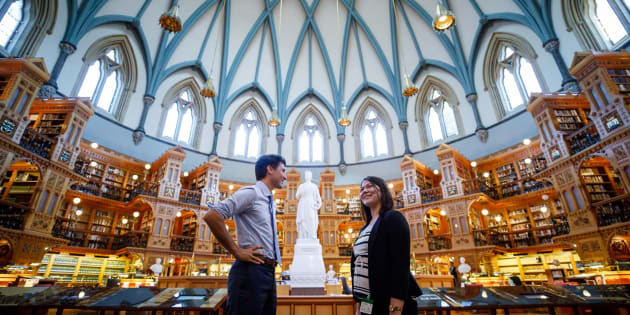 Canadian Prime Minister Justin Trudeau, right, and 23-year-old Breanne Lavallee-Heckert, right.