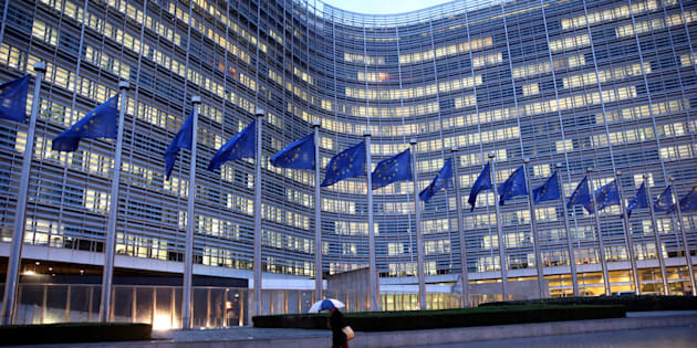 BRUSSELS, BELGIUM - (ARCHIVE) : A file photo dated January 29, 2018 shows the European Commission building with European Union flags waving in front in Brussels, Belgium. (Photo by Dursun Aydemir/Anadolu Agency/Getty Images)