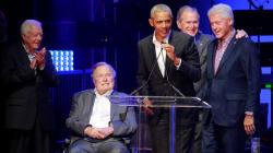 歴代アメリカ大統領5人、被災者支援コンサートに勢ぞろい