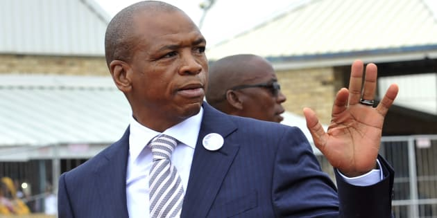 North West premier Supra Mahumapelo during the state of the province address in Marikana on February 25, 2018.