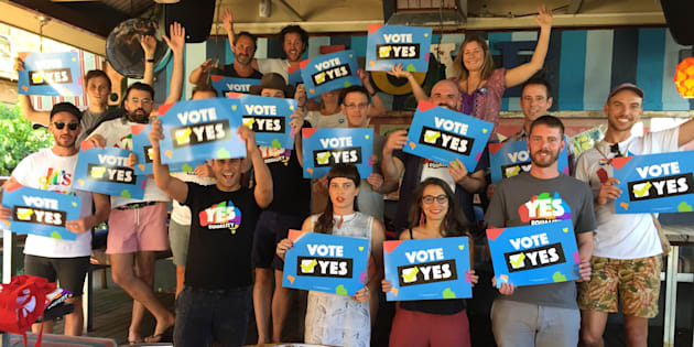 """In Alice Springs, over the last weekend, we heard from community members who told us how they had come together like never before to work to win the postal survey."""