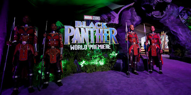 """The premiere of """"Black Panther"""" in Los Angeles, January 29, 2018."""