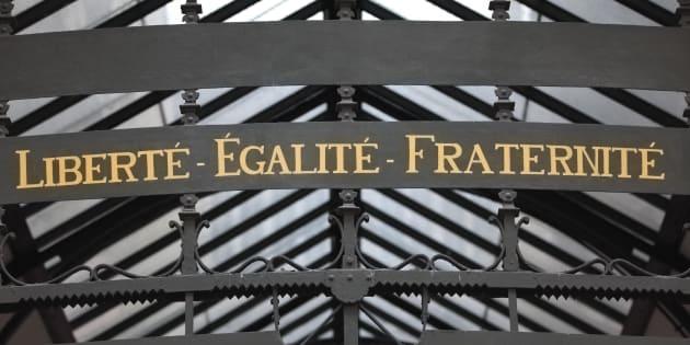 La devise de la République française.
