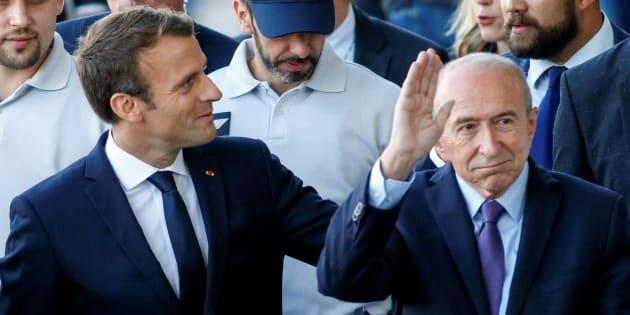 """Pour Emmanuel Macron, la démission de Gérard Collomb est une """"péripétie""""."""