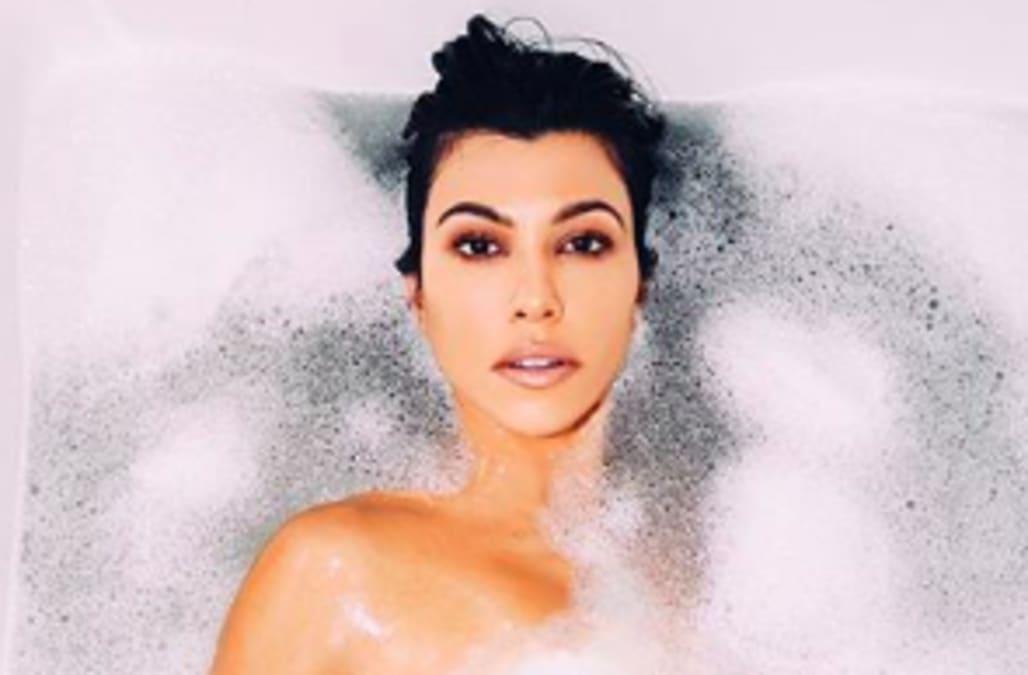 f51c7d496fb88 Kourtney Kardashian's nude bathtub photo slammed as a Photoshop fail: 'I  honestly think this was a joke edit'