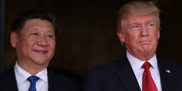 Donald Trump et Xi Jinping à Mar-a-Lago, en Floride, le 6 avril.