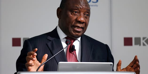 Deputy President Cyril Ramaphosa speaks during a lecture at the Lee Kuan Yew School of Public Policy in Singapore October 7, 2016.