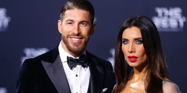 Sergio Ramos y Pilar Rubio en la ceremonia de los premios de la FIFA, en enero de 2017.