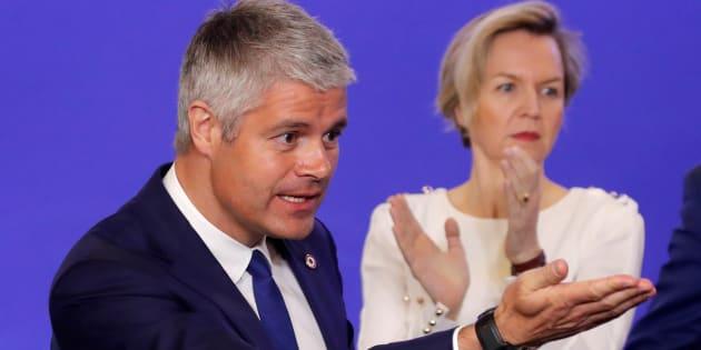 Le président des Républicains Laurent Wauquiez et sa numéro 2 Virginie Calmels.