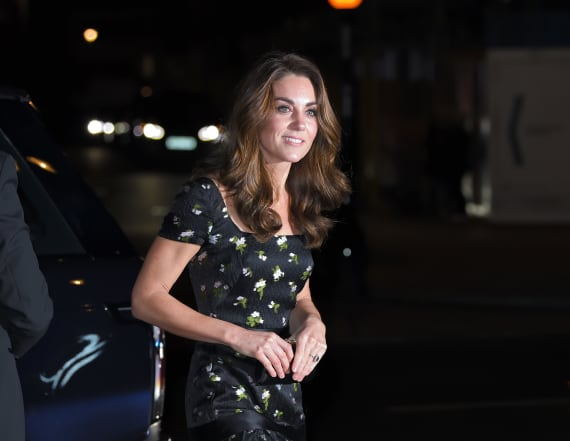 Kate Middleton stuns in Alexander McQueen rewear