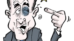 Alain Juppé, la pêche... en pleine figure après sa