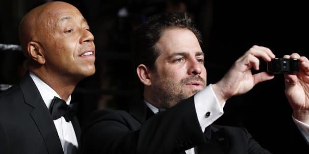 Russell Simmons et Brett Ratner pendant la soirée des Oscars en 2011.