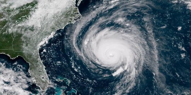 Une image satellite de l'ouragan Florence le 12 septembre 2018.