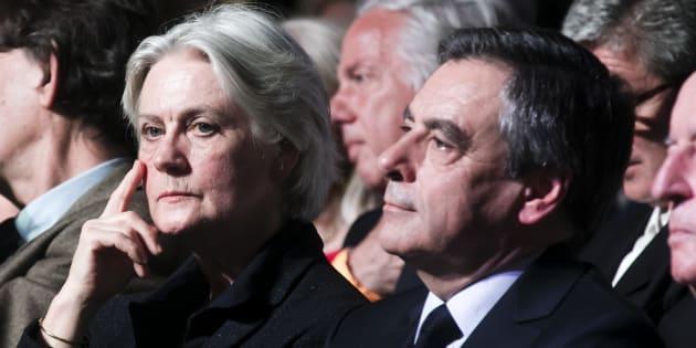 Penelope et François Fillon à Paris le 9 avril 2017.