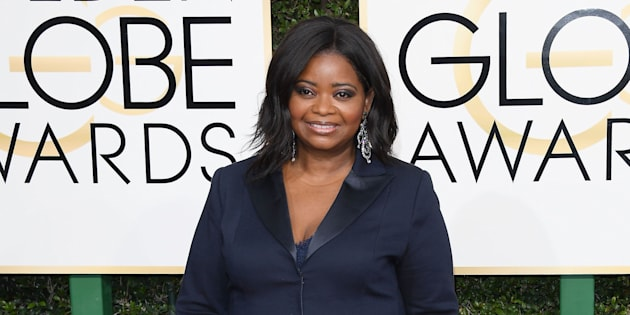 BEVERLY HILLS, CA - JANUARY 08:  Actress Octavia Spencer attends the 74th Annual Golden Globe Awards at The Beverly Hilton Hotel on January 8, 2017 in Beverly Hills, California.  (Photo by Venturelli/WireImage)