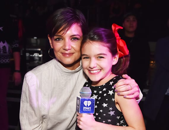 Katie Holmes and Suri Cruise appear at Jingle Ball!