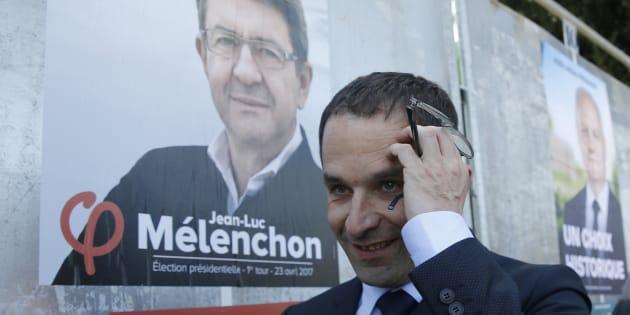 Benoît Hamon est cinquième dans les intentions de vote.