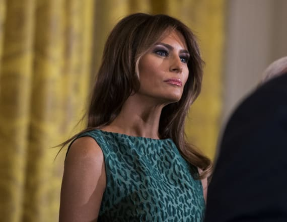 Melania Trump wows in green Brandon Maxwell dress