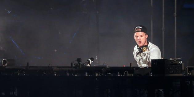 Le DJ Avicii le 30 mai 2015 en Suède.