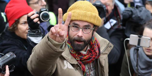 Cédric Herrou (ici le 10 février 2017 à Nice) a obtenu l'allègement de son contrôle judiciaire.