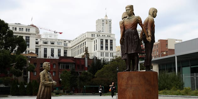 サンフランシスコ市内に設置された慰安婦像