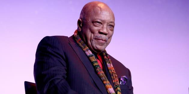 Quincy Jones na première do filme, que ocorreu neste fim de semana no Festival de Toronto.