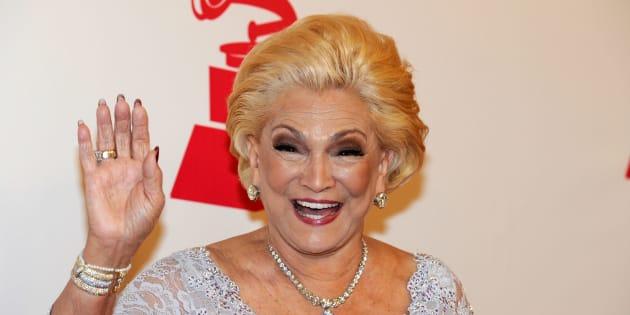Hebe Camargo brilha em 2010 no Person of the Year, ao homenagear Plácido Domingo, em Las Vegas.