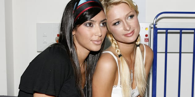 Kim Kardashian and Paris Hilton  (Photo by John Stanton/WireImage)