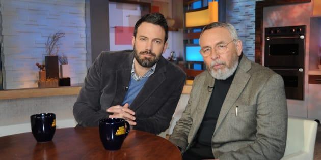 Ben Affleck y Tony Mendez, en un acto promocional de 'Argo'.