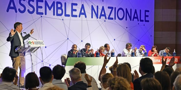 Roma. Assemblea Nazionale del PD. Matteo Renzi