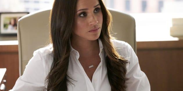"""Meghan Markle dans la série """"Suits"""", dans le rôle de Rachel Zane."""