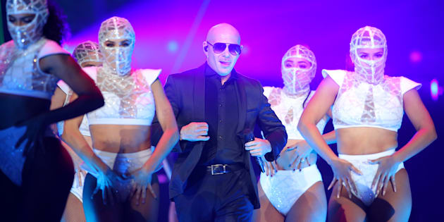 Pitbull au Xcel Energy Center de St Paul, Minnesota, le 6 octobre dernier.