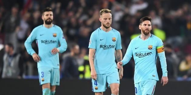 """Ligue des Champions: Exploit de l'AS Rome qui fait subir une """"remontada"""" au Barça."""
