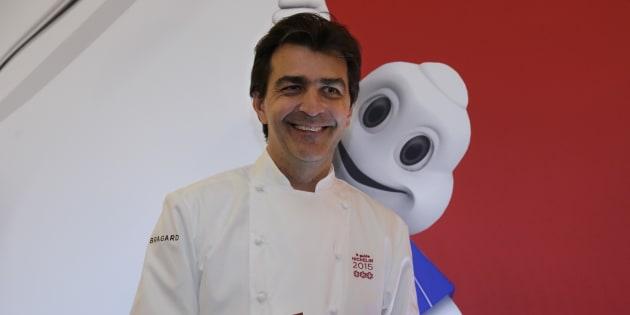 Yannick Alleno, trois étoiles au Michelin. REUTERS/Philippe Wojazer