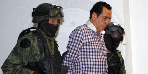 Héctor Beltrán Leyva, detenido y presentado ante la prensa el 1 de octubre de 2014 en Ciudad de México.