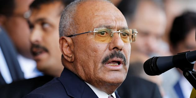 L'ancien président du Yémen Ali Abdallah Saleh à Sanaa, le 24 août.