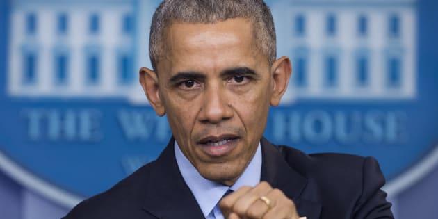 Piratages durant la présidentielle: Barack Obama (ici le 16 décembre 2016) va annoncer des sanctions diplomatiques et financières contre la Russie