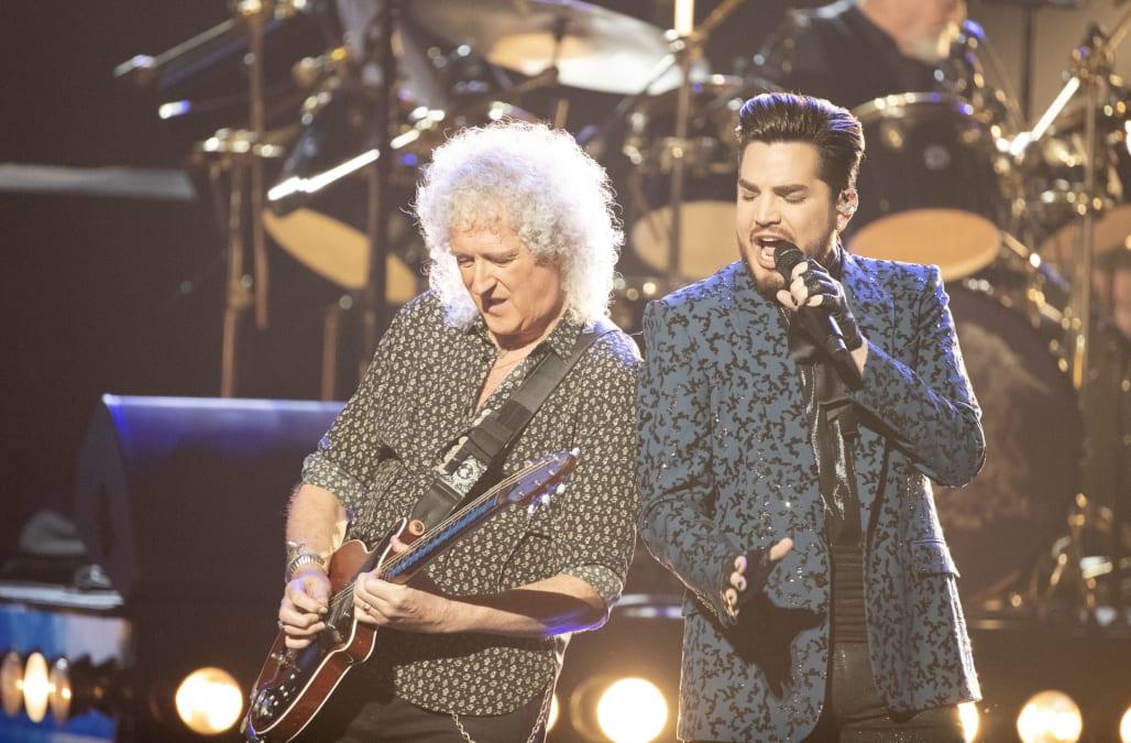 Queen And Adam Lambert Open Hostless Oscars