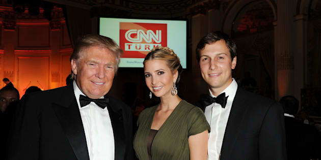 NEW YORK, NY - OCTOBER 18:  Donald Trump, Ivanka Trump and Jared Kushner attend the Turkish Society Annual Dinner Gala at The Plaza Hotel on October 18, 2012 in New York City.  (Photo by Craig Barritt/Getty Images)