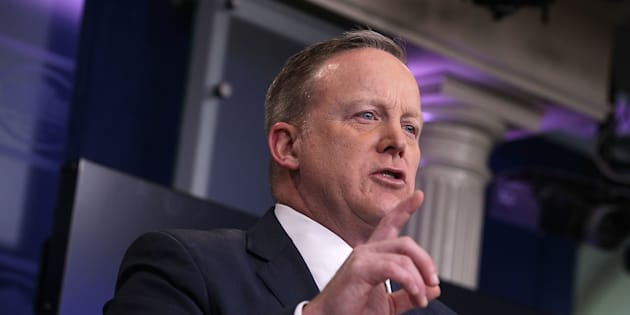 WASHINGTON, DC - MARCH 07:  U.S. White House Press Secretary Sean Spicer speaks during the White House daily press briefing March 7, 2017 at the White House in Washington, DC. Spicer discussed various topics including the new healthcare bill during the briefing.  (Photo by Alex Wong/Getty Images)