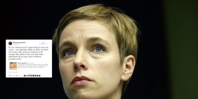 """Clémentine Autain dénonce """"l'indécence"""" d'une députée LREM qui serait contrainte de """"manger des pâtes"""""""