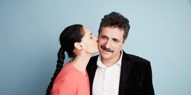 Kleber Mendonça Filho ao lado de Sonia Braga, protagonista do filme 'Aquarius'.