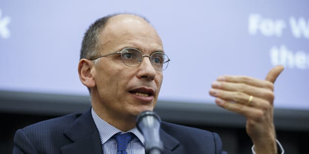 LONDON, UNITED KINGDOM - APRIL 26: Former Italian Prime Minister Enrico Letta gives a speech on Britain's EU referendum at 'The UK in a Changing Europe conference' at King's College in London, England on April 26, 2016.  (Photo by Tolga Akmen/Anadolu Agency/Getty Images)