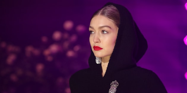 Gigi Hadid à la Fashion Week de New York le 11 février.